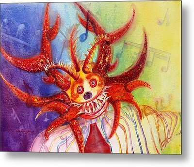 Lets Go To The Carnival Metal Print by Estela Robles