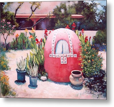 Metal Print featuring the painting Let's Make Bread by M Diane Bonaparte