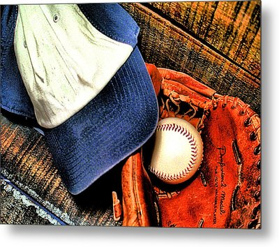 Let's Play Ball Metal Print by Jimmy Ostgard