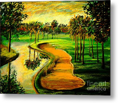 Let's Play Golf Metal Print by Patricia L Davidson