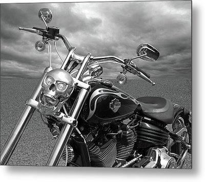 Metal Print featuring the photograph Let's Ride - Harley Davidson Motorcycle by Gill Billington