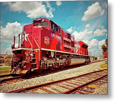 Let's Ride The Katy Metal Print by Linda Unger
