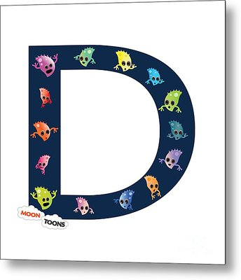 Letter D Metal Print