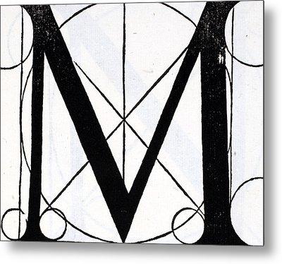 Letter M Metal Print