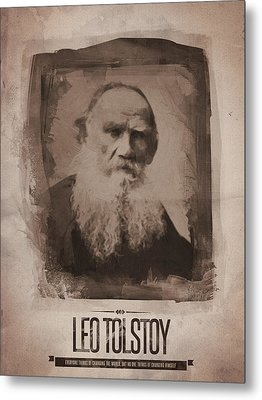 Leo Tolstoy Metal Print by Afterdarkness