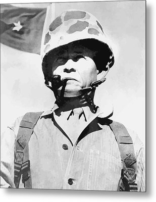 Lewis Chesty Puller Metal Print by War Is Hell Store