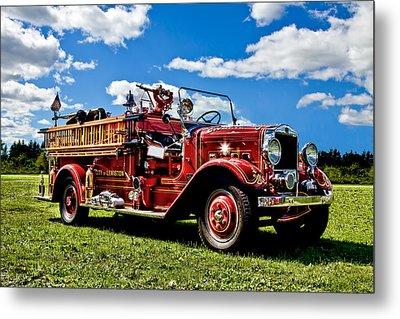 Lewiston Fire Truck Metal Print