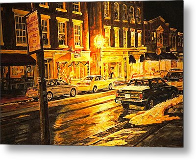 Lexington Street Light Metal Print