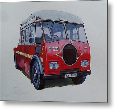 Metal Print featuring the painting Leyland Wrecker Cie by Mike Jeffries