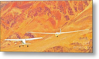 Libelle Sailplane On Tow Metal Print