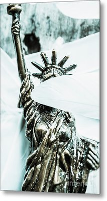 Liberty Blinded By Corruption Metal Print