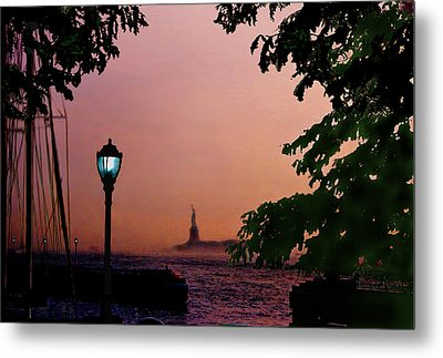 Metal Print featuring the digital art Liberty Fading Seascape by Steve Karol
