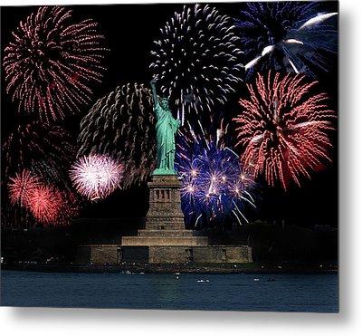 Liberty Fireworks 1 Metal Print by BuffaloWorks Photography