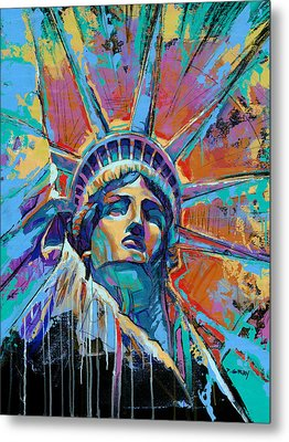 Liberty In Color Metal Print by Damon Gray
