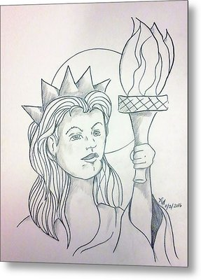 Liberty Metal Print by Loretta Nash
