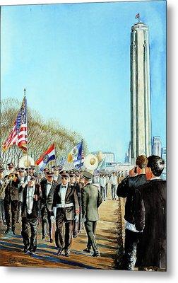 Liberty Memorial Kc Veterans Day 2001 Metal Print by Carolyn Coffey Wallace
