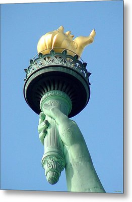 Liberty Torch Metal Print