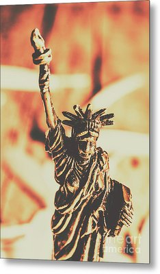 Liberty Will Enlighten The World Metal Print