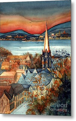 Liberty's Light - Newburgh Ny Metal Print