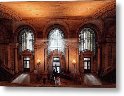 Metal Print featuring the photograph Library Entrance by Jessica Jenney