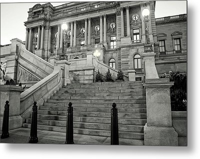 Library Of Congress In Black And White Metal Print by Greg Mimbs
