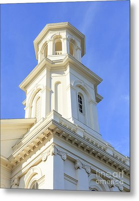 Library Provincetown Cape Cod Metal Print by Edward Fielding