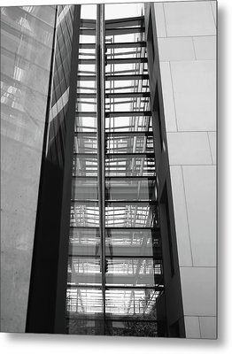 Metal Print featuring the photograph Library Skyway by Rona Black