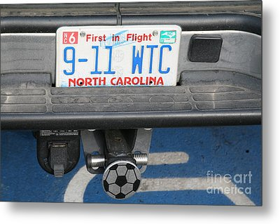 License Plate 9-11  Wtc  Metal Print