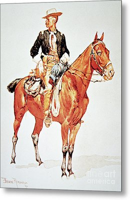 Lieutenant S C Robertson, Chief Of The Crow Scouts Metal Print by Frederic Remington