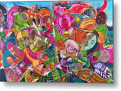 Life And Death Metal Print by Rollin Kocsis