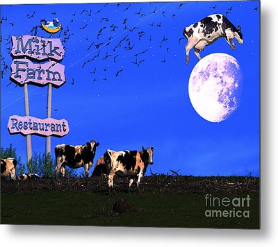 Life At The Old Milk Farm Restaurant After The Lights Went Out For The Last Time In 1986 Metal Print