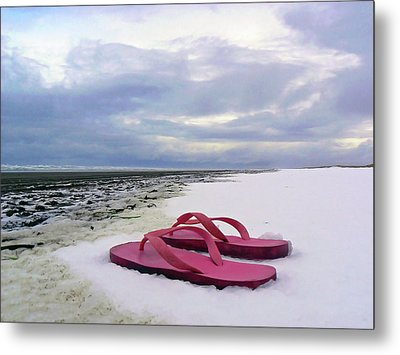 Life Can Be A Beach  Metal Print