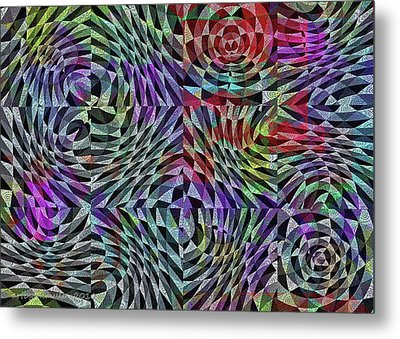 Metal Print featuring the digital art Life Currents by Mimulux patricia no No