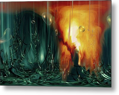 Metal Print featuring the digital art Life Form Ends by Linda Sannuti