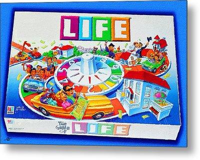 Life Game Of Life Board Game Painting Metal Print