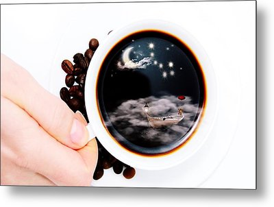Life In A Cup Of Coffee Metal Print