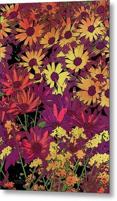 Life In Flowers Metal Print by JQ Licensing