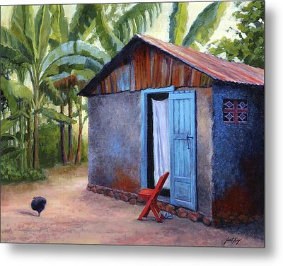Life In Haiti Metal Print by Janet King