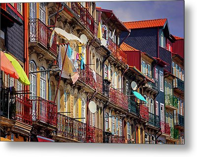 Metal Print featuring the photograph Life In Ribeira Porto  by Carol Japp