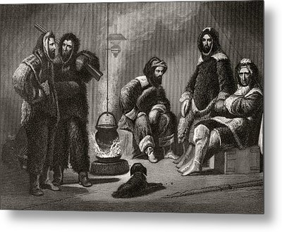 Life In The Brig From Arctic Metal Print by Vintage Design Pics