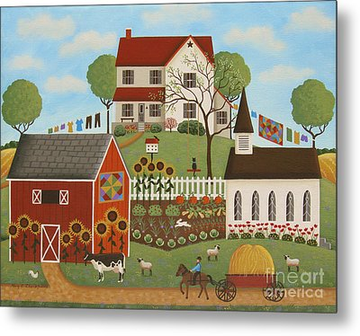 Life In The Country Metal Print