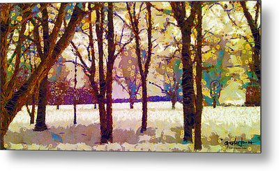 Life In The Dead Of Winter Metal Print by Gustav James