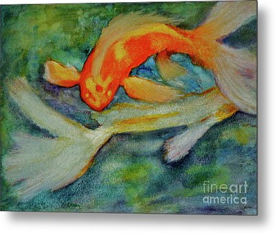 Life In The Pond Metal Print by Carla Stein