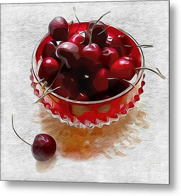 Life Is A Bowl Of Cherries Metal Print by Alexis Rotella