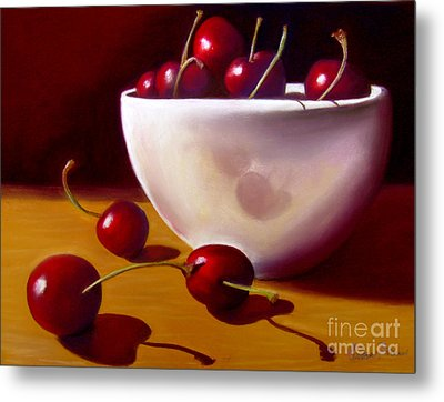 Life Is Just A Bowl Of Cherries Metal Print by Colleen Brown