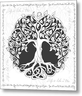 Metal Print featuring the digital art Life Tree. Life Is Like A Tree by Gina Dsgn