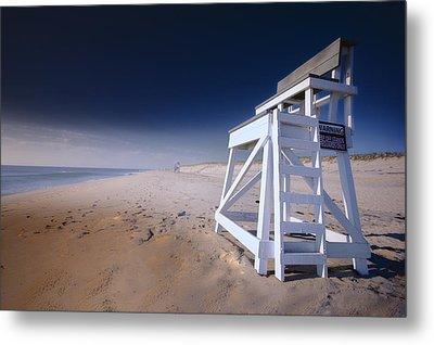 Lifeguard Chair - Nauset Beach Metal Print