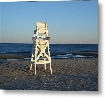 Lifeguard Chair  Metal Print by Margie Avellino