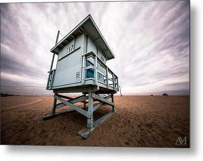 Lifeguard Stand Metal Print