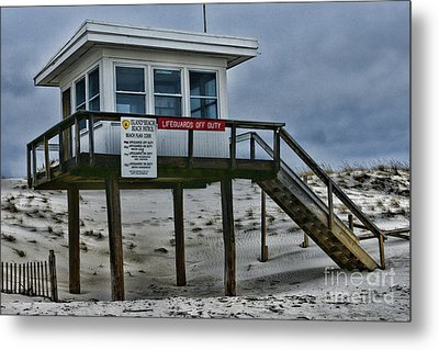 Metal Print featuring the photograph Lifeguard Station 1 by Paul Ward